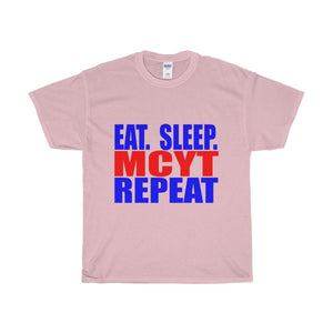 Organization (Mcyt) - Eat Sleep Mcyt Repeat - Unisex Heavy Cotton Tee Light Pink / S T-Shirt