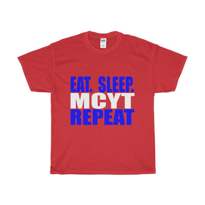 Organization (Mcyt) - Eat Sleep Mcyt Repeat - Unisex Heavy Cotton Tee Red / S T-Shirt