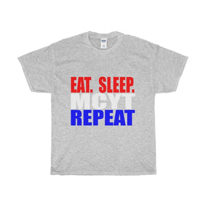 Organization (Mcyt) - Eat Sleep Mcyt Repeat - Unisex Heavy Cotton Tee Sport Grey / S T-Shirt