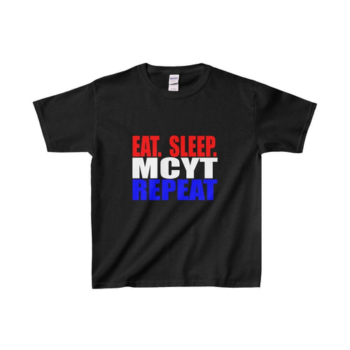 Organization (Mcyt) - Eat Sleep Mcyt Repeat - Youth Heavy Cotton Tee Black / Xs Kids Clothes