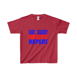Organization (Mcyt) - Eat Sleep Mcyt Repeat - Youth Heavy Cotton Tee Cardinal Red / Xs Kids Clothes