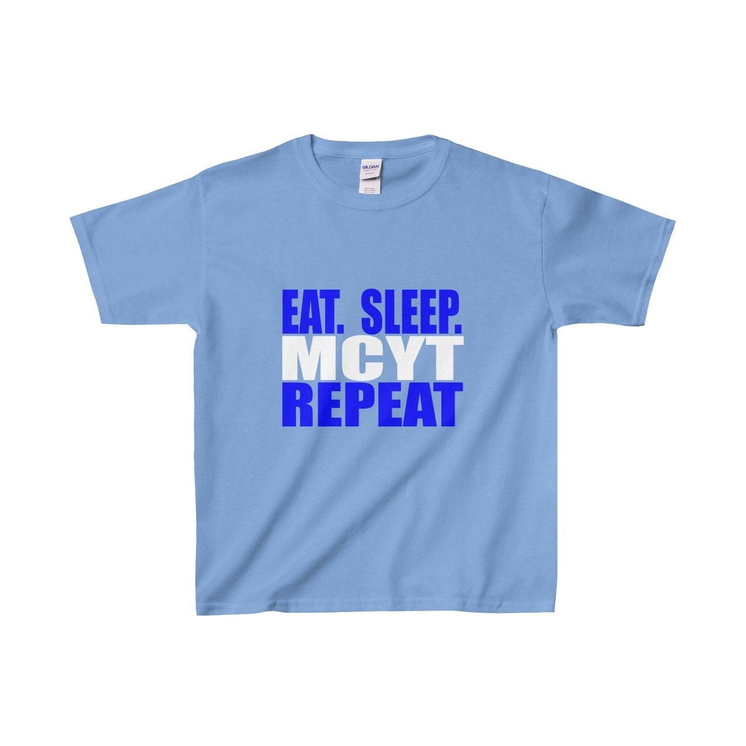 Organization (Mcyt) - Eat Sleep Mcyt Repeat - Youth Heavy Cotton Tee Carolina Blue / Xs Kids Clothes