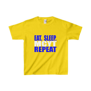 Organization (Mcyt) - Eat Sleep Mcyt Repeat - Youth Heavy Cotton Tee Daisy / Xs Kids Clothes