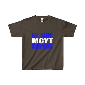 Organization (Mcyt) - Eat Sleep Mcyt Repeat - Youth Heavy Cotton Tee Dark Chocolate / Xs Kids Clothes