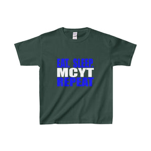Organization (Mcyt) - Eat Sleep Mcyt Repeat - Youth Heavy Cotton Tee Forest Green / Xs Kids Clothes
