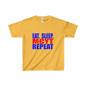 Organization (Mcyt) - Eat Sleep Mcyt Repeat - Youth Heavy Cotton Tee Gold / Xs Kids Clothes