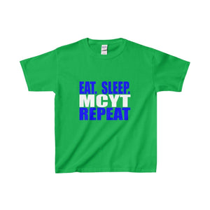 Organization (Mcyt) - Eat Sleep Mcyt Repeat - Youth Heavy Cotton Tee Irish Green / Xs Kids Clothes