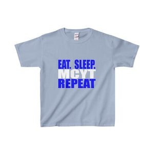 Organization (Mcyt) - Eat Sleep Mcyt Repeat - Youth Heavy Cotton Tee Light Blue / Xs Kids Clothes
