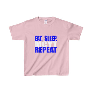 Organization (Mcyt) - Eat Sleep Mcyt Repeat - Youth Heavy Cotton Tee Light Pink / Xs Kids Clothes