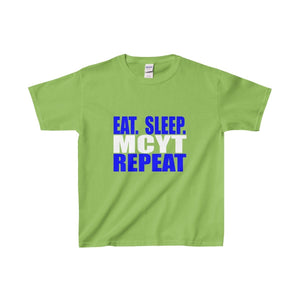 Organization (Mcyt) - Eat Sleep Mcyt Repeat - Youth Heavy Cotton Tee Lime / Xs Kids Clothes
