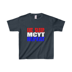 Organization (Mcyt) - Eat Sleep Mcyt Repeat - Youth Heavy Cotton Tee Navy / Xs Kids Clothes