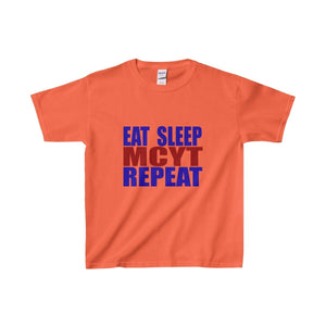 Organization (Mcyt) - Eat Sleep Mcyt Repeat - Youth Heavy Cotton Tee Orange / Xs Kids Clothes