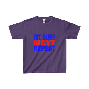 Organization (Mcyt) - Eat Sleep Mcyt Repeat - Youth Heavy Cotton Tee Purple / Xs Kids Clothes