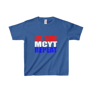 Organization (Mcyt) - Eat Sleep Mcyt Repeat - Youth Heavy Cotton Tee Royal / Xs Kids Clothes