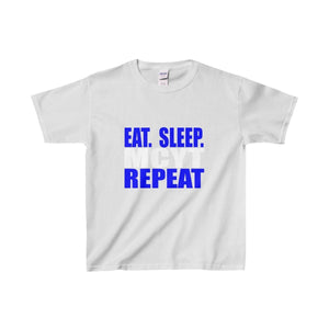 Organization (Mcyt) - Eat Sleep Mcyt Repeat - Youth Heavy Cotton Tee Sport Grey / Xs Kids Clothes