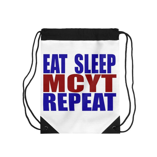 Organization (MCYT) - Motor City Youth Theatre Eat Sleep MCYT Repeat Drawstring Bag One Size Bags