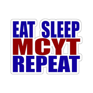 Organization (MCYT) - Motor City Youth Theatre Eat Sleep MCYT Repeat Stickers 2x2 / White Paper products