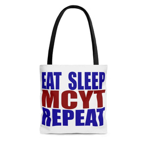 Organization (MCYT) - Motor City Youth Theatre Eat Sleep MCYT Repeat Tote Bag Large Bags