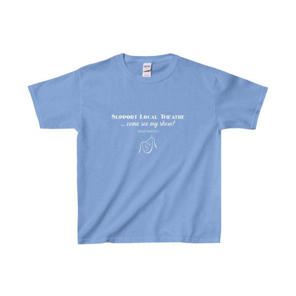 Organization (Mcyt) - Support Local Theatre - Youth Heavy Cotton Tee Carolina Blue / Xs Kids Clothes