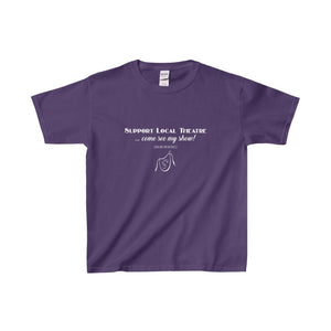 Organization (Mcyt) - Support Local Theatre - Youth Heavy Cotton Tee Purple / Xs Kids Clothes