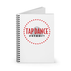 Organization (TDD) - Tap Dance Detroit Logo Ruled Line Spiral Notebook Paper products