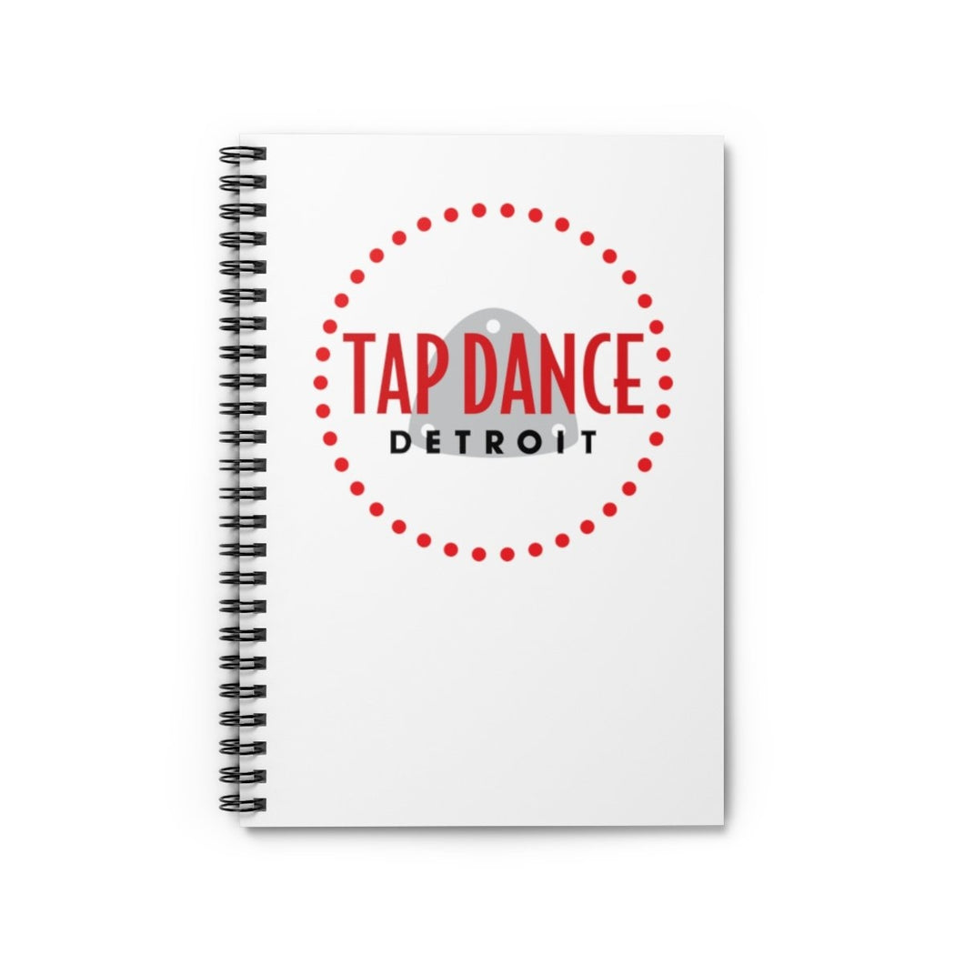 Organization (TDD) - Tap Dance Detroit Logo Ruled Line Spiral Notebook Spiral Notebook Paper products