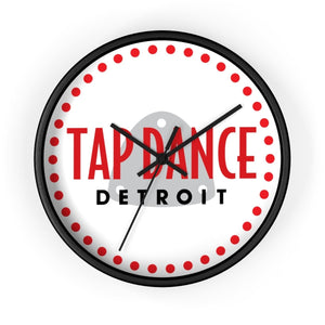 Organization (TDD) - Tap Dance Detroit Logo Wall Clock 10 in / Black / Black Home Decor