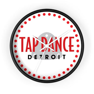 Organization (TDD) - Tap Dance Detroit Logo Wall Clock 10 in / Black / White Home Decor