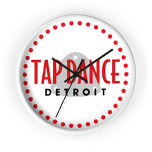 Organization (TDD) - Tap Dance Detroit Logo Wall Clock 10 in / White / Black Home Decor