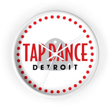 Organization (TDD) - Tap Dance Detroit Logo Wall Clock 10 in / White / White Home Decor
