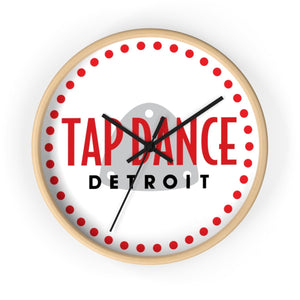 Organization (TDD) - Tap Dance Detroit Logo Wall Clock 10 in / Wooden / Black Home Decor