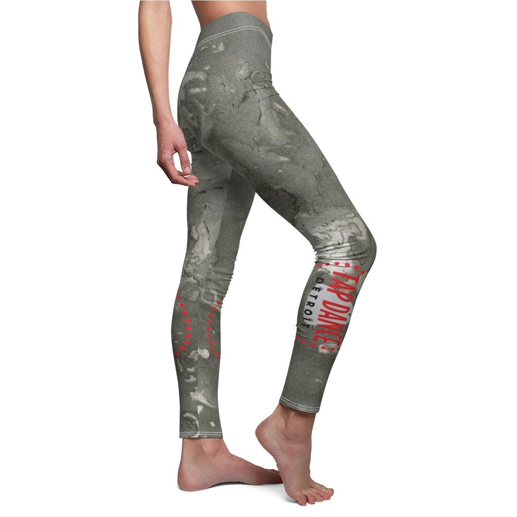 Organization (TDD) - Tap Dance Detroit Logo Womens Casual Leggings White Seams / M Women All Over Prints