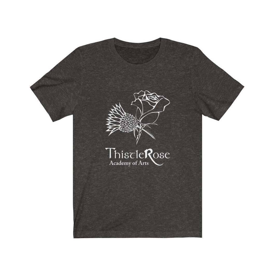 Organization (TRAA) - Thistle Rose Academy Arts Logo Unisex Jersey Short Sleeve Tee Black Heather / L Men Women T-Shirt