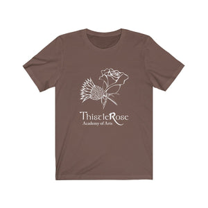 Organization (TRAA) - Thistle Rose Academy Arts Logo Unisex Jersey Short Sleeve Tee Brown / XS Men Women T-Shirt