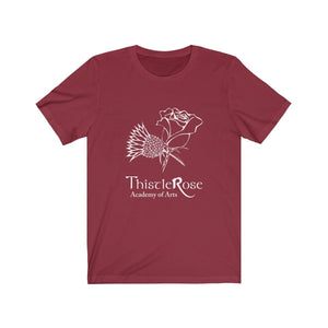 Organization (TRAA) - Thistle Rose Academy Arts Logo Unisex Jersey Short Sleeve Tee Cardinal / XS Men Women T-Shirt