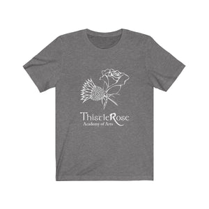 Organization (TRAA) - Thistle Rose Academy Arts Logo Unisex Jersey Short Sleeve Tee Deep Heather / XS Men Women T-Shirt