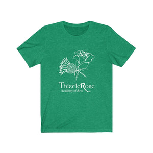 Organization (TRAA) - Thistle Rose Academy Arts Logo Unisex Jersey Short Sleeve Tee Heather Kelly / XS Men Women T-Shirt