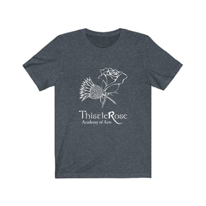 Organization (TRAA) - Thistle Rose Academy Arts Logo Unisex Jersey Short Sleeve Tee Heather Navy / XS Men Women T-Shirt