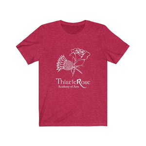 Organization (TRAA) - Thistle Rose Academy Arts Logo Unisex Jersey Short Sleeve Tee Heather Red / XS Men Women T-Shirt