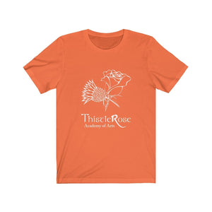 Organization (TRAA) - Thistle Rose Academy Arts Logo Unisex Jersey Short Sleeve Tee Orange / XS Men Women T-Shirt