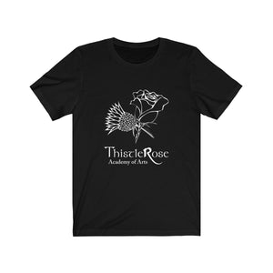 Organization (TRAA) - Thistle Rose Academy Arts Logo Unisex Jersey Short Sleeve Tee Solid Black Blend / XS Men Women T-Shirt