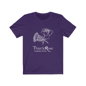 Organization (TRAA) - Thistle Rose Academy Arts Logo Unisex Jersey Short Sleeve Tee Team Purple / XS Men Women T-Shirt