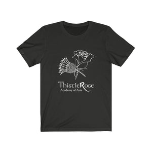 Organization (TRAA) - Thistle Rose Academy Arts Logo Unisex Jersey Short Sleeve Tee Vintage Black / XS Men Women T-Shirt