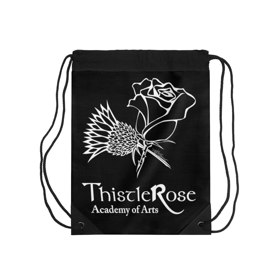 Organization (TRAA) - Thistle Rose Academy of Arts Black Drawstring Bag One Size Bags