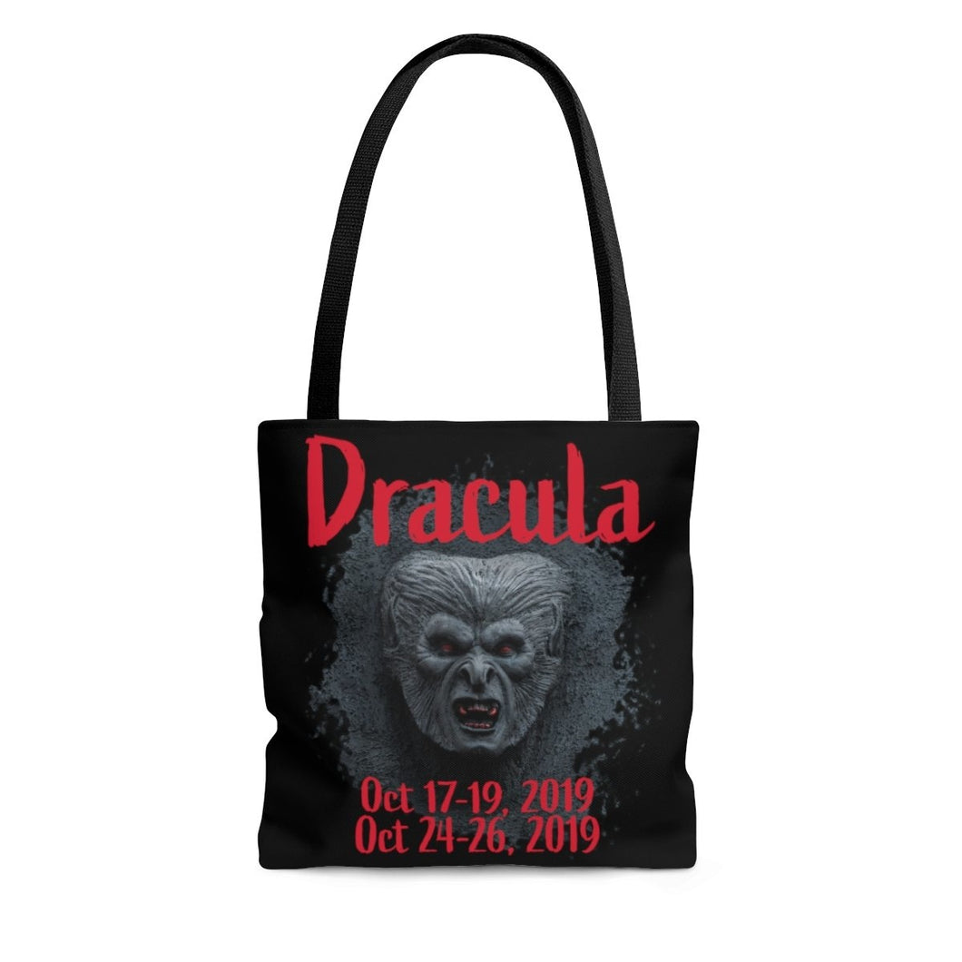 Organization (TRAA) - Thistle Rose Academy of Arts Dracula Black Tote Bag Large Bags