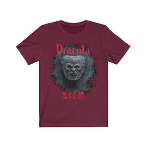 Organization (TRAA) - Thistle Rose Academy of Arts Dracula Unisex Jersey Short Sleeve Tee Maroon / XS Men Women T-Shirt