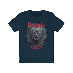 Organization (TRAA) - Thistle Rose Academy of Arts Dracula Unisex Jersey Short Sleeve Tee Navy / XS Men Women T-Shirt
