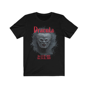 Organization (TRAA) - Thistle Rose Academy of Arts Dracula Unisex Jersey Short Sleeve Tee Solid Black Blend / XS Men Women T-Shirt
