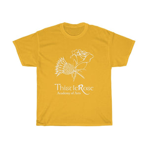 Organization (TRAA) - Thistle Rose Academy of Arts Logo Unisex Heavy Cotton Tee Gold / S Men Women T-Shirt