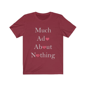 Organization (TRAA) - Thistle Rose Academy of Arts Much Ado About Nothing Cast Unisex Jersey Short Sleeve Tee Cardinal / XS Men Women